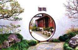 Moon entrance in Wangshi garden Stock Photo
