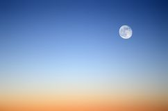 Moon in the evening sky Stock Photo