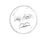 Moon Face #1 Stock Photography