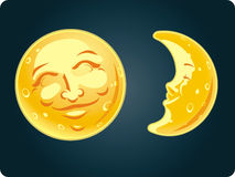 Moon Face Stock Photography