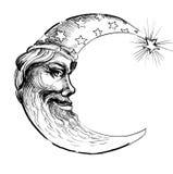 Moon face Stock Photo