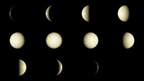Moon faser Stock Illustrationer