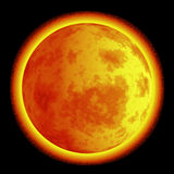 Moon on fire Royalty Free Stock Image
