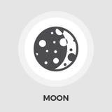 Moon flat icon Stock Photography