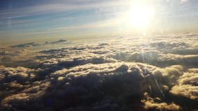 Moon. Flying above the clouds view from Airbus Panorama storm clouds in the sky panorama storm clouds in the sky stock video footage