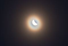 The moon in a fog Stock Image