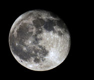 Moon. Full Moon captured at midnight  in clear sky Stock Photos
