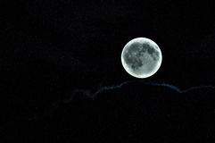 The moon is full. Stock Photo