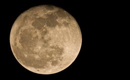Moon. Full moon terrestrial satellite view from the earth Stock Photo