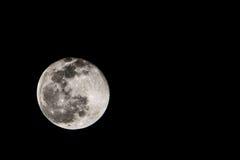Moon. Almost fullmoon on dark night Royalty Free Stock Photo