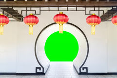 Moon Gate in chinese garden Stock Images