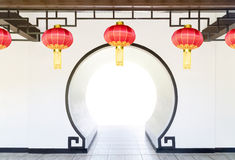 Moon Gate in chinese garden Royalty Free Stock Image