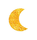 Moon glitter design Stock Images