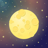 Moon gradient. Vector illustration of space gradient multicolor background. The starry sky, the moon, craters, bright glow stunning views. Making galactic Royalty Free Stock Photos