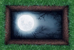 Moon in the ground Royalty Free Stock Images
