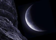 Moon half Royalty Free Stock Photography