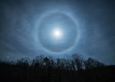 Moon halo stock images