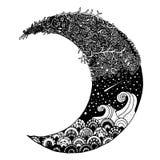 Moon. Hand drawn illustrations of moon royalty free illustration