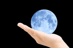 Moon in hand Royalty Free Stock Image
