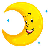 Moon with happy face Stock Photo