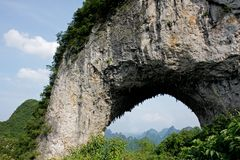 Moon hill, China Royalty Free Stock Photos