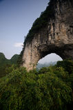 Moon hill in Yangshuo Royalty Free Stock Photo