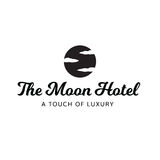 Moon Hotel Sky Clouds Luxury Spa Logo Stock Image