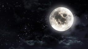 Moon i nattskyen Arkivbilder