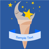 Moon in the ice cream cone Royalty Free Stock Photo