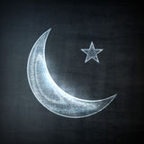 Moon icon, Graphic Concept Stock Photography