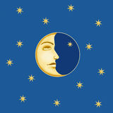 Moon Illustration Royalty Free Stock Photography