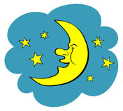 Moon Illustration. JPG and EPS. Moon and Stars. JPG and EPS Royalty Free Stock Images