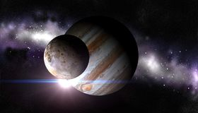Moon Io Royalty Free Stock Photo