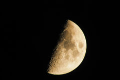 Moon. In its fourth quarter phase stock images