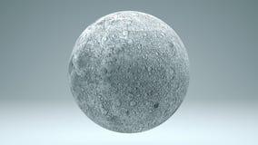 Moon 4K isolado dando laços sem emenda de giro com resíduo metálico de Luma ilustração royalty free