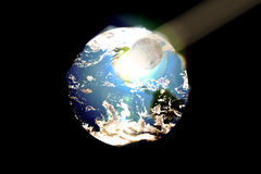When the Moon Kisses the Earth Illustration Royalty Free Stock Photography