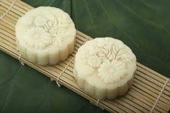 Moon Kuchen des traditionellen Kuchens des Vietnamesen - chinesisches mittleres Herbstfestivallebensmittel Stockfoto