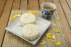 Moon Kuchen des traditionellen Kuchens des Vietnamesen - chinesisches mittleres Herbstfestivallebensmittel Lizenzfreie Stockfotos