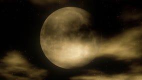 Moon 1 laço video estilizado 1080p do fundo da noite de // filme