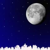 Moon la città Immagine Stock Libera da Diritti