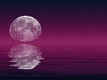 Moon & Lake Royalty Free Stock Photo