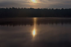Moon lake forest reflection Royalty Free Stock Photos