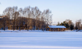 The moon lake park-3. The moon lake park after the heavy snow in winter Royalty Free Stock Photography