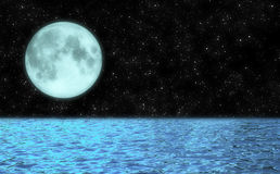 Moon Lake Peaceful Background Illustration Royalty Free Stock Images