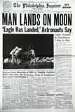 Moon landing. On the front page of the Philadelphia Enquirer