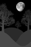 Moon landscape Royalty Free Stock Images