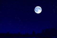 Moon landscape. The fantastic large moon landscape Stock Photos