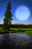 Moon landscape stock photo
