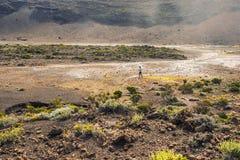 Plaine des Sables île de la Réunion. This moon landscape can be found at the Plaine des Sables, which leads to the active volcano on the island: the Piton de Royalty Free Stock Photos
