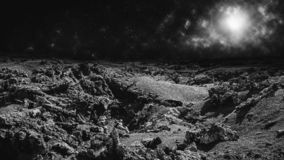 Moon landscape or remote alien planet concept. royalty free stock images